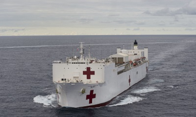 The Military Sealift Command hospital ship USNS Mercy (T-AH 19) participates in Pacific Partnership 2015
