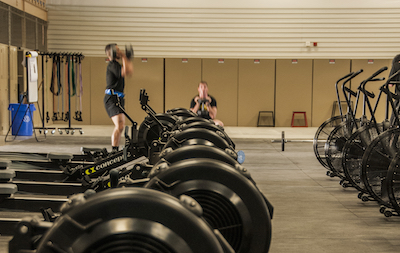 Various exercise equipment lines the floor in 2nd Brigade Combat Team, 1st Armored Division's repurposed gymnasium, April 25. The gymnasium, which is centrally located within 2nd BCT's footprint, is one of many efforts leading to a decrease in Soldiers on profiles (physical limitations) across Fort Bliss resulting in an increase in readiness. William Beaumont Army Medical Center's Rehabilitation Services implemented new hours of operation for physical therapy clinics at primary care clinics as well as increased the education and access to care for Soldiers needing physical therapy.
